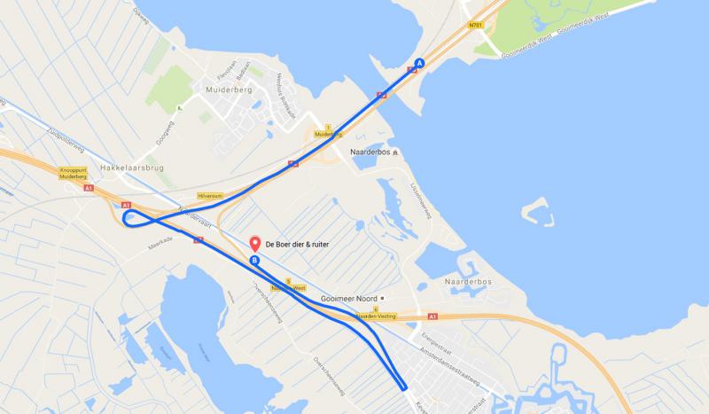 Route vanuit Almere