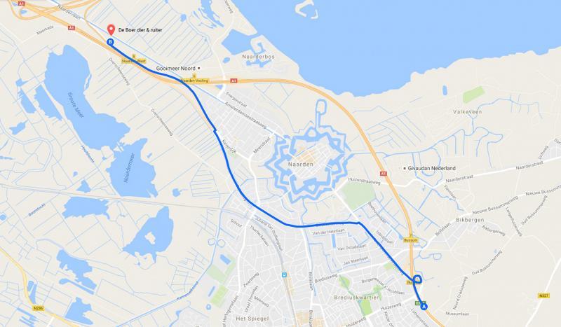 Route vanuit Amersfoort